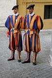 Швейцарский предохранитель, государство Ватикан, Рим, Италия Стоковая Фотография