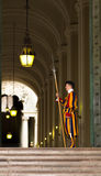 Швейцарский предохранитель защищая Ватикан стоковые фотографии rf