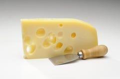 Швейцарский сыр Эмменталя с отверстиями Стоковое фото RF