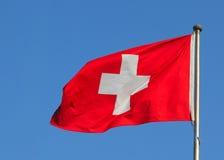 Швейцарский флаг Стоковое фото RF