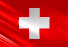 Швейцарский флаг Стоковое Фото