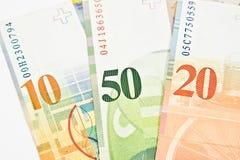 Швейцарский франк Стоковое фото RF