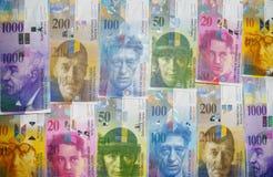 Швейцарский франк стоковые изображения rf