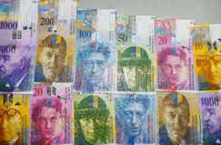Швейцарский франк стоковые фотографии rf