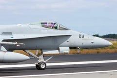 Швейцарский шершень военновоздушной силы F/A-18C Стоковые Изображения RF