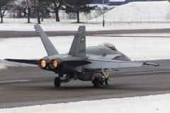 Швейцарский шершень F/A-18 Стоковая Фотография RF