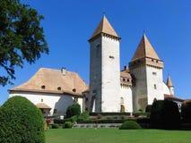 Швейцарское Ла Sarraz замка Стоковое Изображение