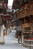 швейцарское село стоковые фотографии rf