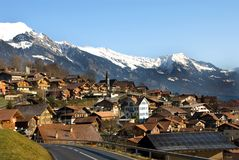 швейцарское село Стоковые Фото