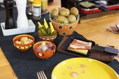 Швейцарское raclette Стоковые Изображения RF