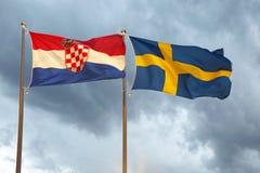 Швеция и Хорватия Стоковые Изображения
