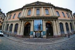 Шведская академия и музей Nobel в Стокгольме, Швеции стоковое фото rf