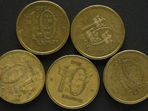 10 шведские кроны & x28; SEK& x29; монетка Стоковые Изображения