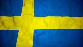 Шведские языки сигнализируют безшовную видео- петлю иллюстрация штока