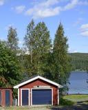 Шведский берег озера Стоковые Изображения RF