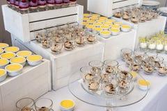 Шведский стол десертов Стоковое Изображение RF