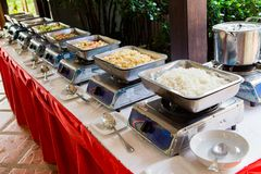 Шведский стол еды Таиланда Стоковая Фотография RF