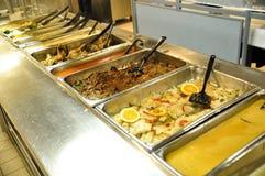 Шведский стол еды стоковое фото
