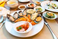 Шведский стол морепродуктов Стоковая Фотография