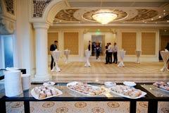 Шведский стол на конференции Стоковое фото RF