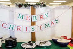 Шведский стол рождества ждать людей Стоковое Изображение