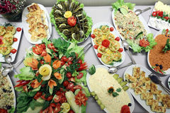 Шведский стол салата Стоковое Изображение