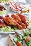 Шведский стол холодного мяса Стоковое Фото