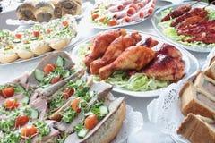 Шведский стол холодного мяса Стоковые Фото