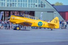 Шведский учебный самолет 1940s Военно-воздушных сил Стоковое Изображение