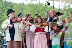 Шведский фольклорный музыкальный фестиваль Стоковые Изображения
