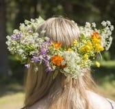 Шведский Headgear середины лета традиционный стоковые изображения rf