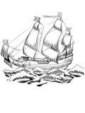 Шведское плавание корабля Vasa Стоковое Изображение RF