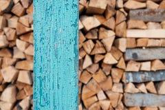 Швырок и штендер зеленого цвета деревянный стоковое изображение