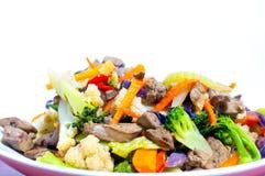 Шевелить-зажаренные смешанные овощи Стоковое Фото