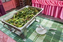 Шевелить-зажаренный kale. Стоковая Фотография