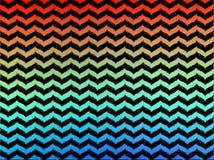 Шевроны Ikat Ombre волнистые Стоковая Фотография