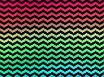 Шевроны Ombre волнистые на черной предпосылке Стоковые Фото