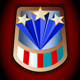Шеврон с американским флагом иллюстрация штока