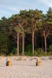 Шезлонги на Балтийском море стоковое фото rf