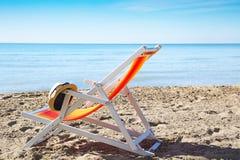 Шезлонг на пляже Стоковое фото RF