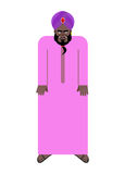 Шейх в национальных арабских робе и тюрбане Иллюстрация вектора Стоковое Изображение RF