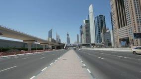 шейх дороги Дубай zayed сток-видео