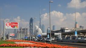 шейх дороги Дубай zayed акции видеоматериалы