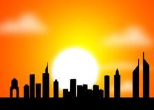 шейх UAE дороги Дубай zayed Стоковые Фото