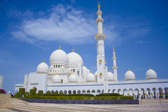 шейх UAE мечети Abu Dhabi грандиозный zayed Стоковое фото RF