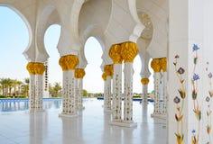шейх UAE мечети Abu Dhabi zayed Стоковые Фотографии RF
