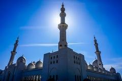 Шейх Zayed Грандиозн Мечеть Абу-Даби стоковое фото