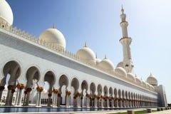 Шейх Zayed Грандиозн Мечеть Абу-Даби Стоковое фото RF