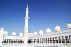 Шейх Zayed Грандиозн Мечеть Абу-Даби Стоковые Изображения RF