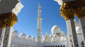 Шейх Zayed Грандиозн Мечеть, Абу-Даби Стоковые Фото